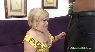 Blonde midget wants black cock