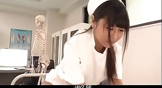 Perfect Asian threesome with curvy ass nurse Yu Shinohara - From JAVz.se