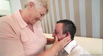 Chubby mom licking her lover&#039_s asshole