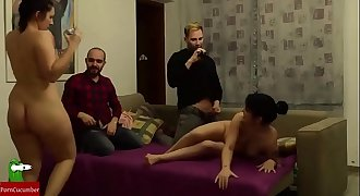Couples are left to fuck each other and masturbate IV 013