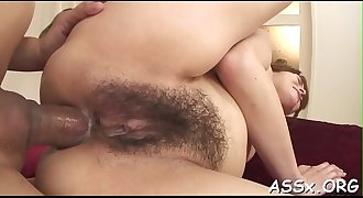 Nasty and lusty oriental assfuck play