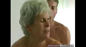 Youthfull Boy Fucks Hairy Granny